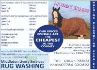 Middleton Livery Services Rug Washing