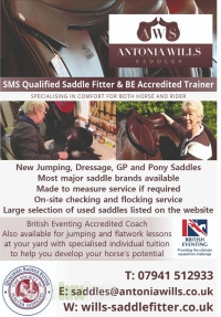 Antonia Wills Saddle Fitter & BE Accredited Trainer